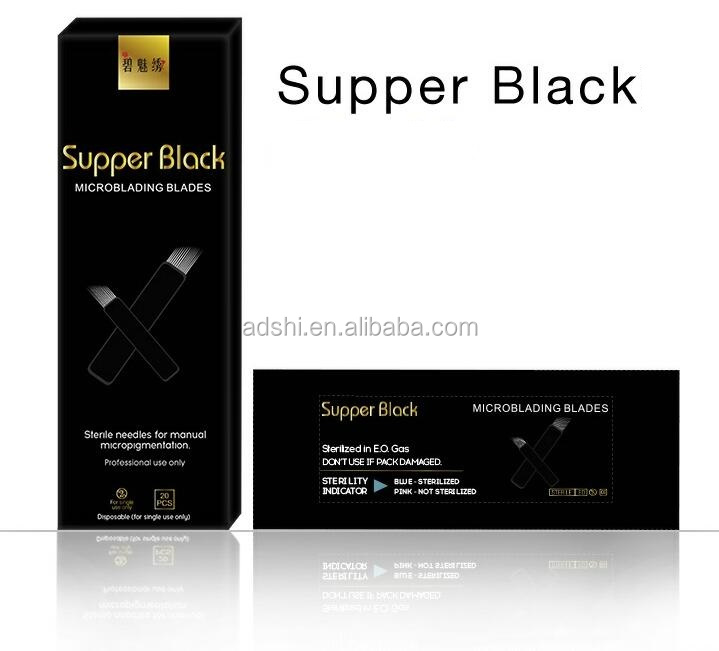 Biomaser black sharper blade disposable microblading tattoo needles for permanent makeup