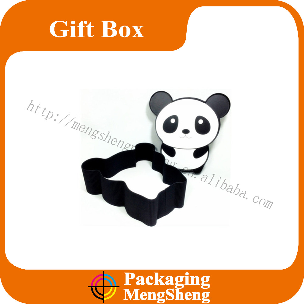 New design cute animal shape gift paper box