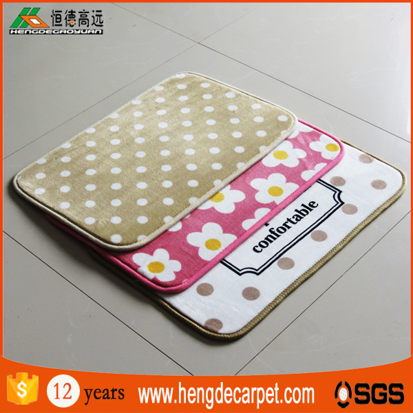 top quality colorful machine washable custom mat with latex backing