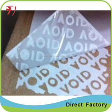Warranty VOID Stickers Silver Stock Polyester Waterproof