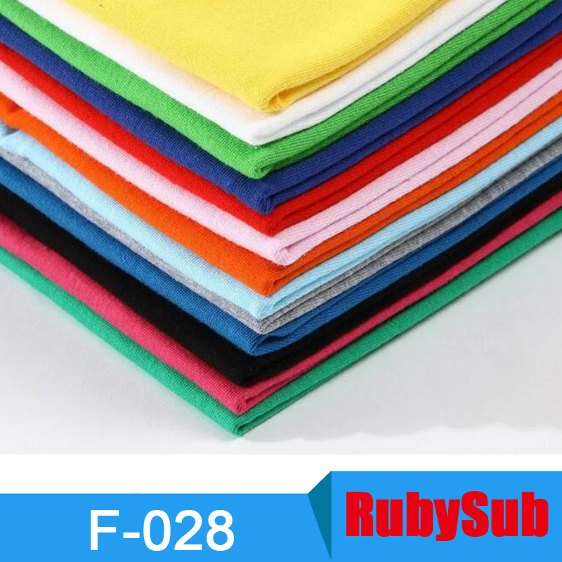 Solf Touch Sublimation Blanks Color 100% Cotton Men Sublimation t shirt China Wholesale in Stock