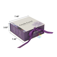 high quality packaging special design purple oil paper box