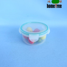 100ml round sealable plastic clear food storage box