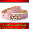 Fashionable Shiny PU Fake Crystal Popular Women Belt
