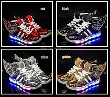 New USB Charging Kids Sneakers Fashion Luminous Lighted Colorful LED lights Children Shoes Casual Flat Boy Shoes rechargeable
