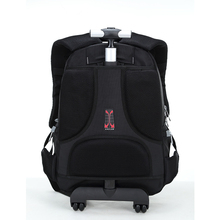 Hotsale high quality promotion trolley backpack /laptop trolley bag/trolley backpack with wheels for business travel , colleges