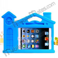 3D House Portable Cute Silicone Case for iPad Mini with Handle Stand