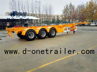 Hot sale Skeleton container chasis semi trailer/tractor trailer container for sale