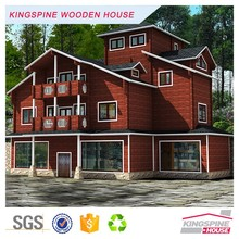 cheap prefabricated homes wood cabin designed log houses KPL-024