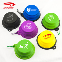 Portable Foldable Expandable Dog Travel Water Bowl Free BPA