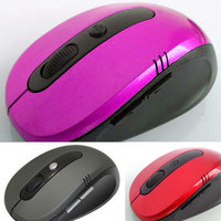 Hot Optical Wireless 2.4 GHZ Laptop PC Computer Netbook Mouse 6 Keys 1600 dpi High Quality Wheel Mouse Rose / Pink