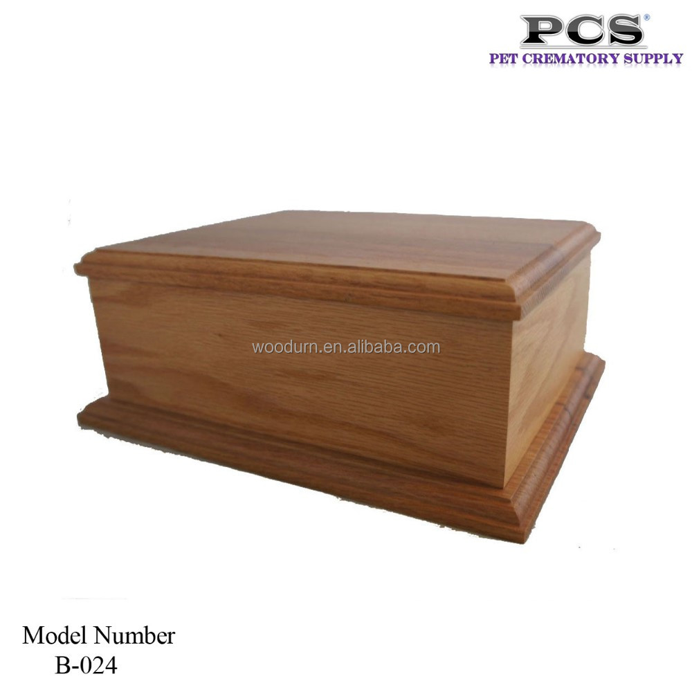 Low Price Memorial Wood Pet Urn For Dog Cat Horse Pet, Customized Unique Pet Urns