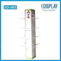 pop high qulity cardboard wall mount shoe display shelf