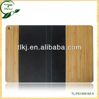 newest pattern bamboo leather cover case for ipad 2/3/4, leather cover for ipad mini