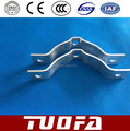 doule offset pole clamp/double suspension hoop/hot dip galvanized stay wire clamp for overhead line fittings