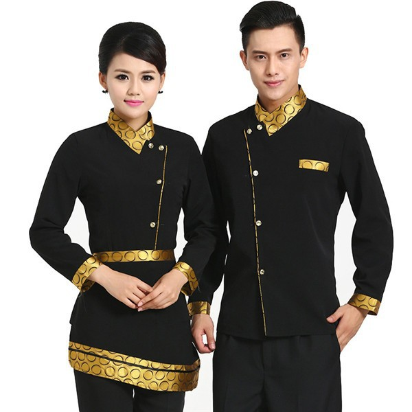 F10U fashion waiter and waitress high quality reception hotel uniform