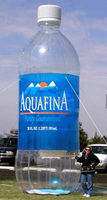 inflatable replica for sale/Inflatable appleton aquafina - 20'/inflatable bottle