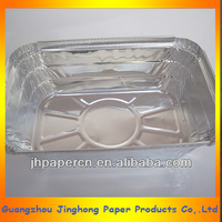 rectangular aluminum foil container/tray for food