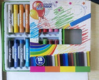 18colors round oil pastel for school kids