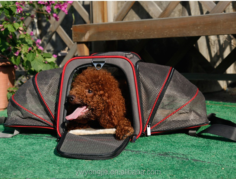 Wholesale Expandable Pet Carrier Dog Bag Pet Carrier With Soft Sided