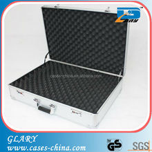 Good quality professional custom silver aluminum pistol box