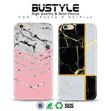 Hot Selling New Products Luxury hard Marble designs shockproof housing shell <strong>case</strong> for iPhone 5 6 6s plus
