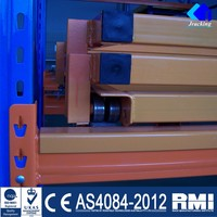 Push back Sliding Pallet Racks for warehouse
