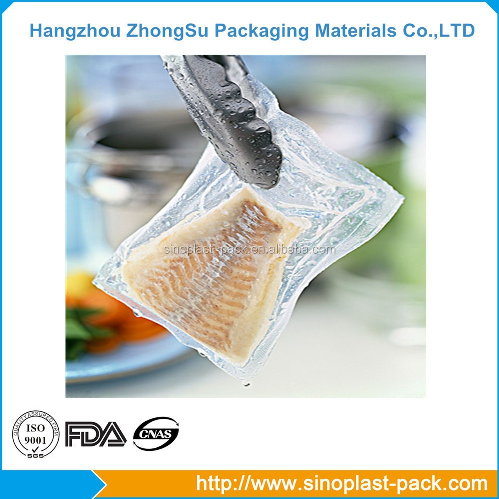 High barrier thick film packaging material plastic bag for frozen food