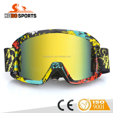 Colorful Motocross Goggles,motorcycle motocross goggle,helmet motorcycle goggle Off road competition Goggles HB-186