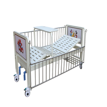 Sale adjustable double shake hand 2 function pediatric baby princess child hospital bed