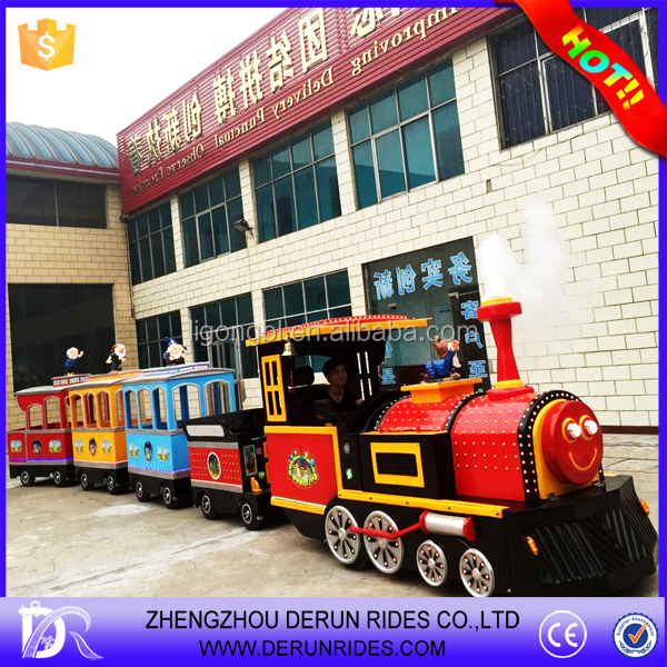 Playground trackless train for tourism