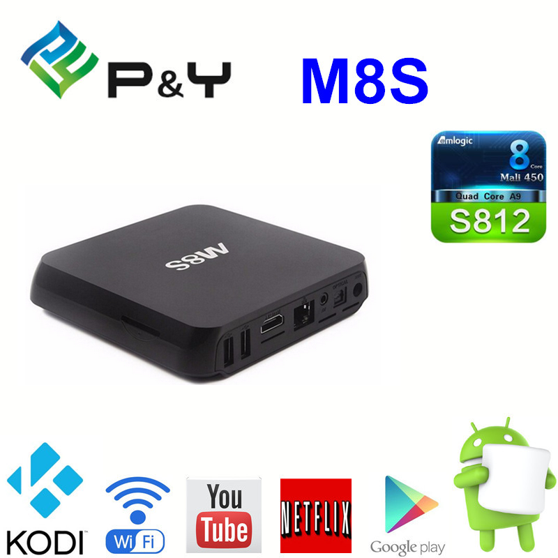 Best M8S Android Smart TV Box Amlogic S812 Chip 4K 2G/8G Dual Wifi Full HD Bluetooth XBMC Media Player TV Box