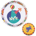 Cute-designed elephant and dolophin animal shaped Colorful baby shower cupcake liners