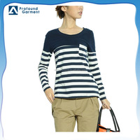 bulk blank pocket custom striped long sleeve extended design your own couple being human t shirt women blank wholesale