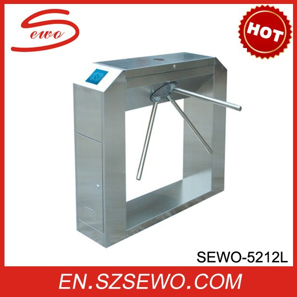 Tripod Turnstile Gate With Bi- Directional Access Control System With 304 Stainless Steel