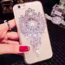 Hotsell 3D Luxury Bling Crystal Rhinestone Diamonds Hard Case Cover for iphone6 6s 6 plus 7 7 plus
