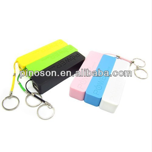2013 new style 2600mah portable power bank for iphone/samsung