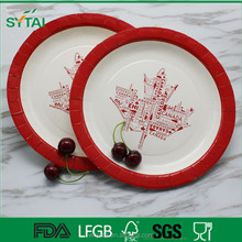 Environment protection different kinds of cheap disposable paper plate
