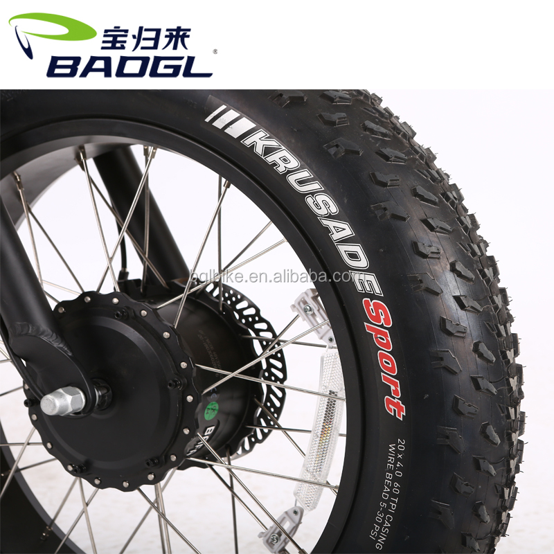 BaoGl OEM 48V 350W Double Motor Super Fat Tire Electric Mountain Bike