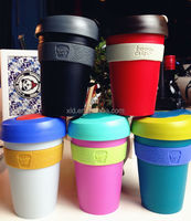 eco-friendly safe thermal plastic mug coffee cups