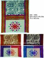 Multi Colour Silk x Wool Double Design Printed Shawl For Girls