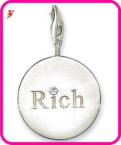 simple alloy coin inscribe rich charm jewelry pendant(H100907)