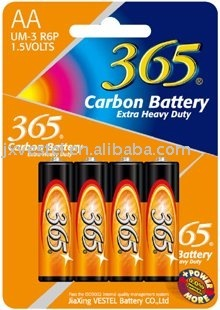 365 Zinc Carbon AA Battery