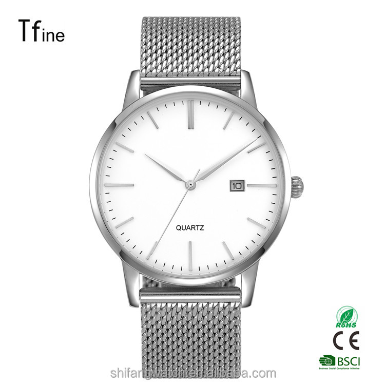 Wholesale Japan Movt Stainless Steel Quartz Watch with 3ATM Water Resistant
