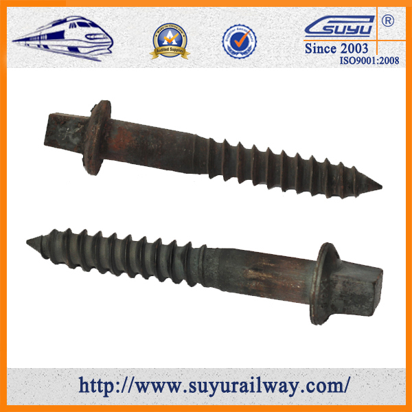 Non-Standard Steel 35# Grade 5.6 Timber Spike on Railroad Sleeper