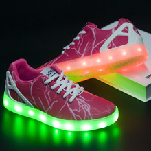 Glamour 3D print Led Light Shoes for women & men