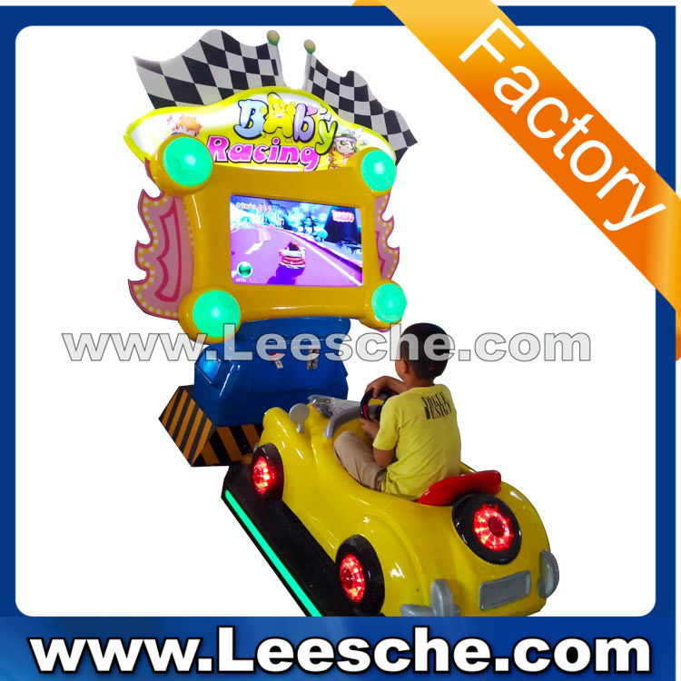 LSJN-076 new arrival coin operate kiddie rides crazy kart game machine type kids baby racing car motor bike racing games