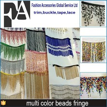 colorful sequins beads fringe