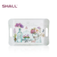 Custom print plastic melamine snack serving tray with handles