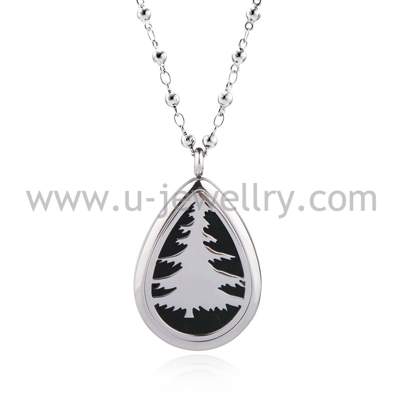 316l stainless steel jewelry pendant necklace essential oil diffuser magnetic pendant made in china